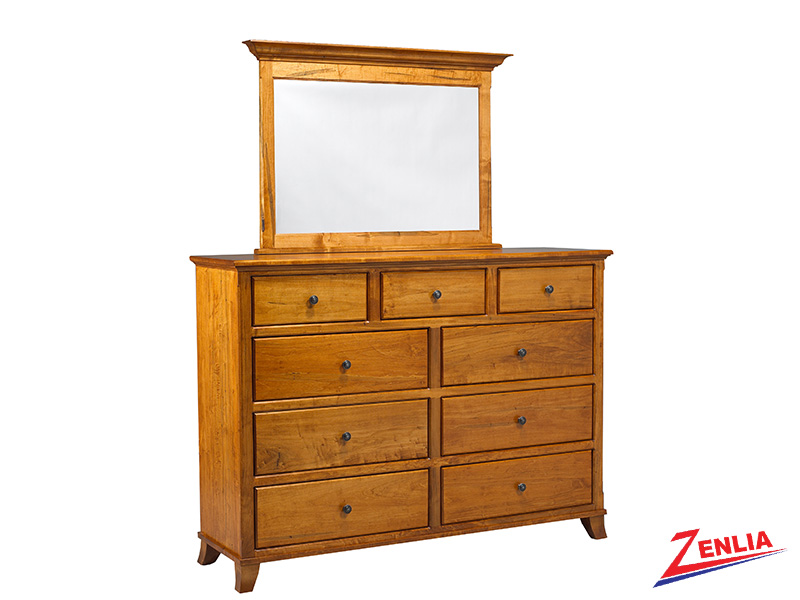 Bour 9 Drawer Dresser & Mirror