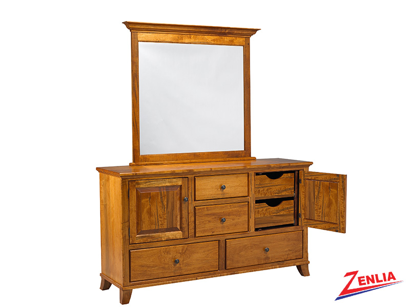 Bour 8 Drawer 2 Door Dresser And Mirror