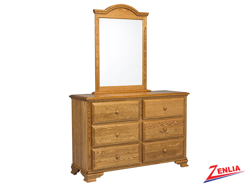 Country 6 Drawer Dresser And Mirror
