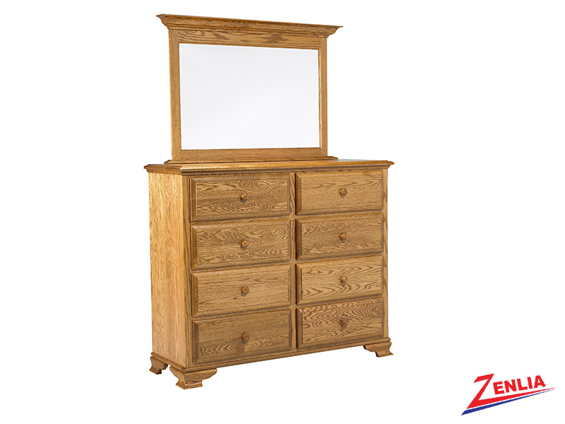 Country 8 Drawer Dresser And Mirror