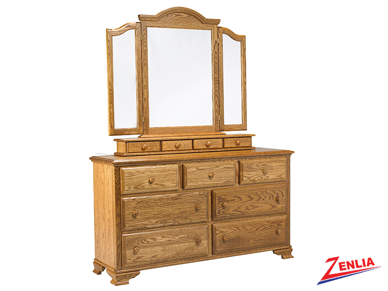 Country 7 Drawer Dresser And Mirror