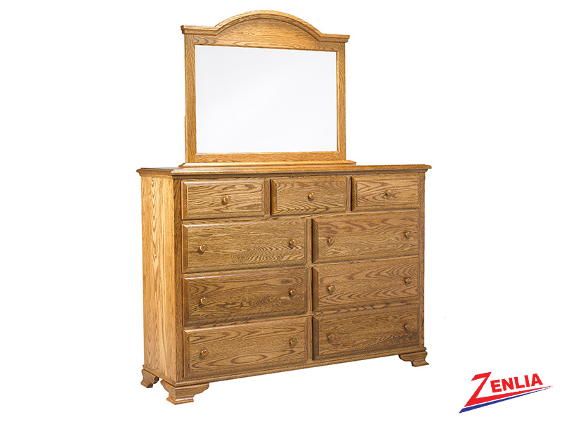 Country 9 Drawer Dresser And Mirror