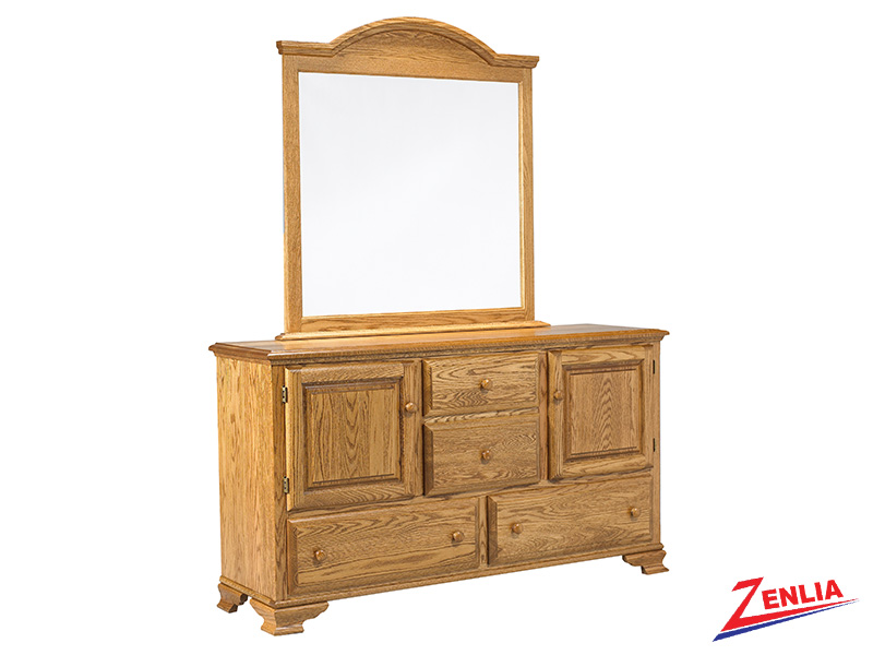 Country 8 Drawer 2 Door Dresser And Mirror