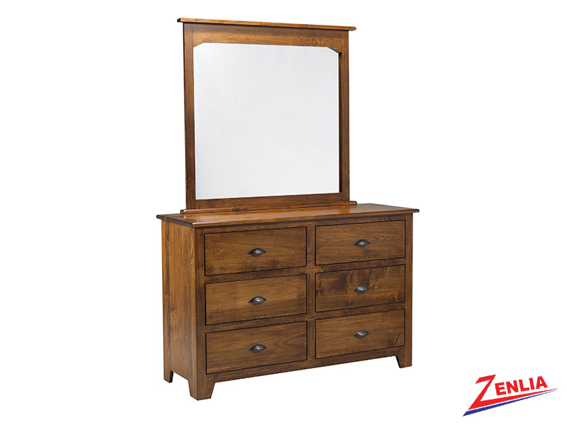 Lake 6 Drawer Dresser And Mirror