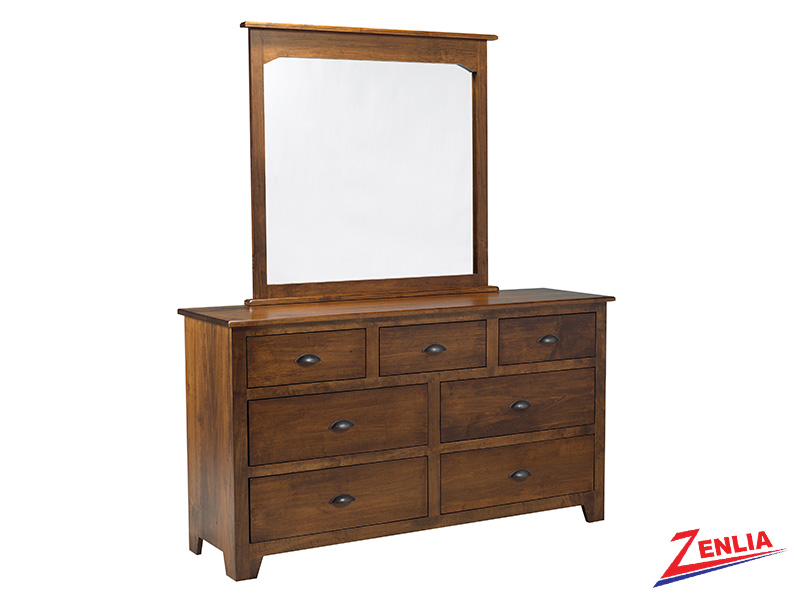 Lake 7 Drawer Dresser And Mirror