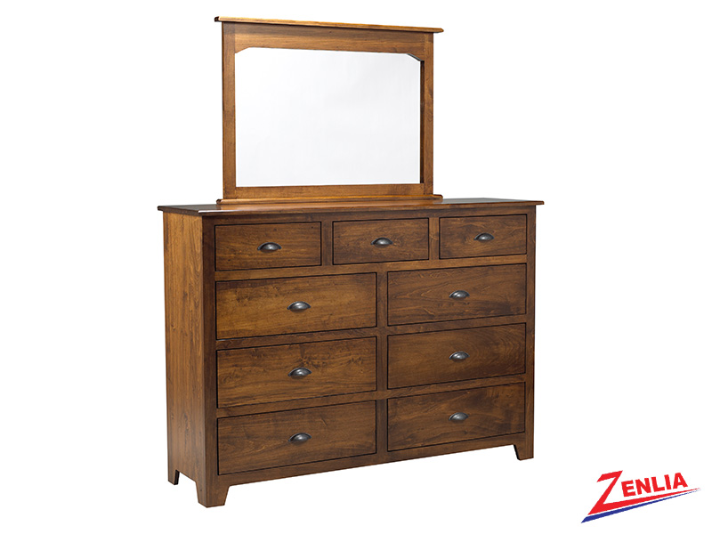 Lake 9 Drawer Dresser & Mirror