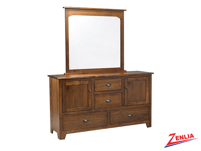 Lake 8 Drawer 2 Door Dresser & Mirror