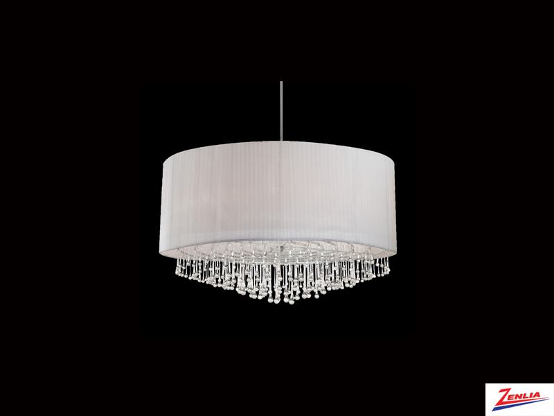 Pench 12 Light Circular Pendant White