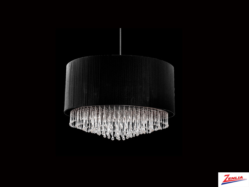 Pench 12 Light Circular Pendant Black