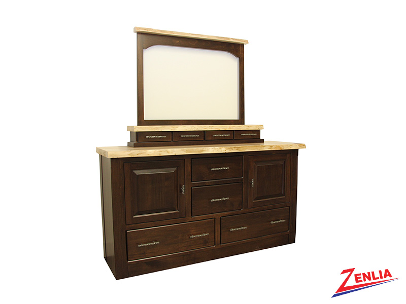 Live 8 Drawer 2 Door Dresser & Mirror