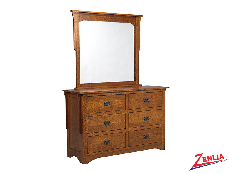 Miss 6 Drawer Dresser & Mirror
