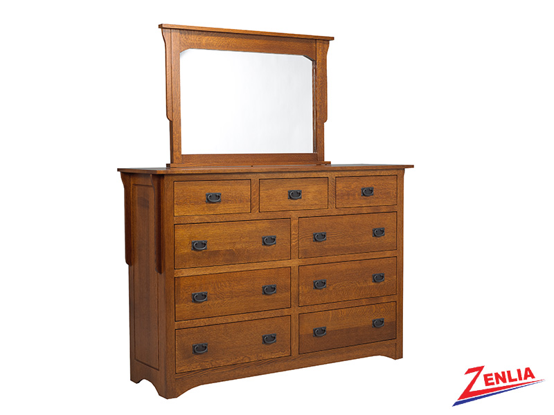 Miss 9 Drawer Dresser & Mirror