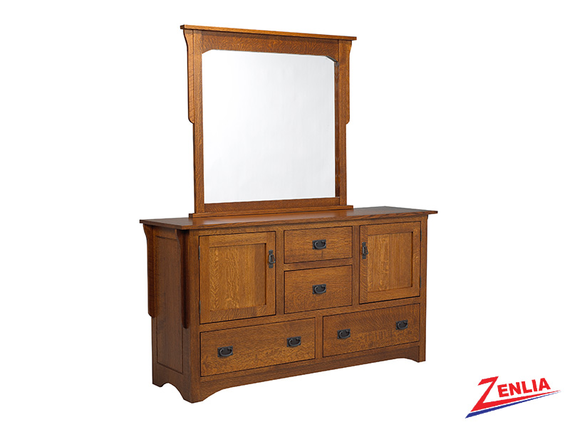 Miss 8 Drawer 2 Door Dresser & Mirror