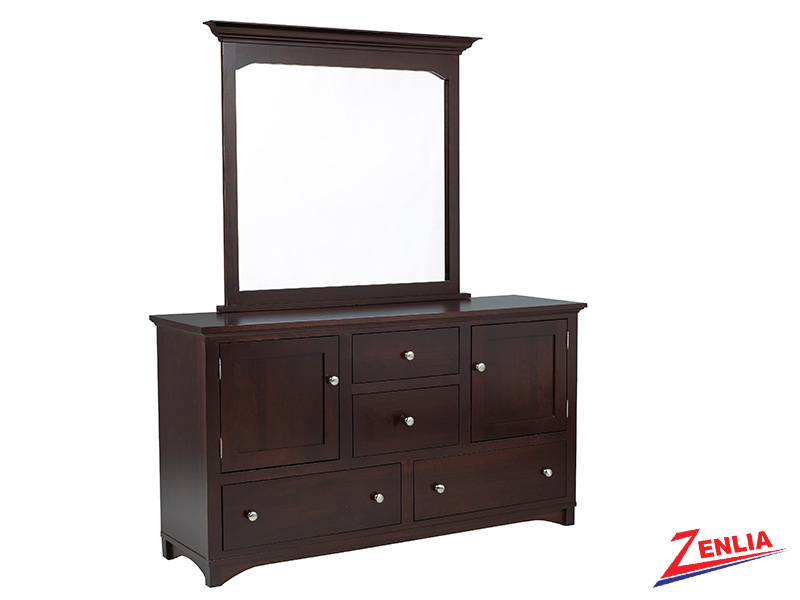 Mont 8 Drawer 2 Door Dresser & Mirror