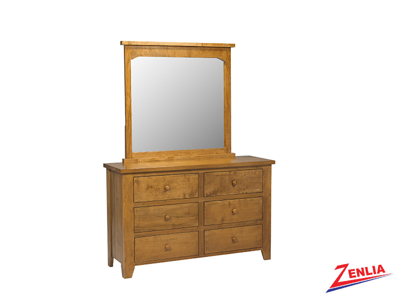 Ruff 6 Drawer Dresser & Mirror