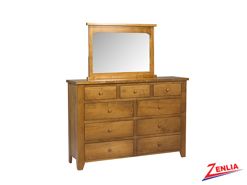 Ruff 9 Drawer Dresser & Mirror