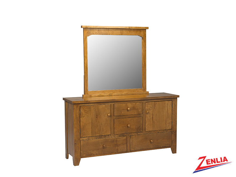 Ruff 8 Drawer 2 Door Dresser & Mirror
