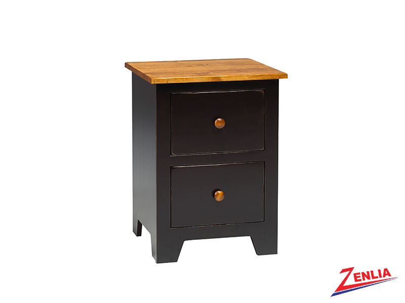 Rust 2 Drawer Night Stand Small