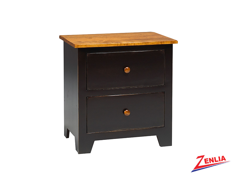 Rust 2 Drawer Night Stand Large