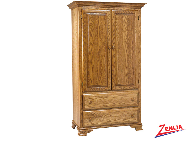 Country Plain Top Armoire