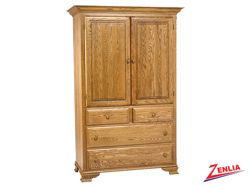 Country Plain Top Armoire Large