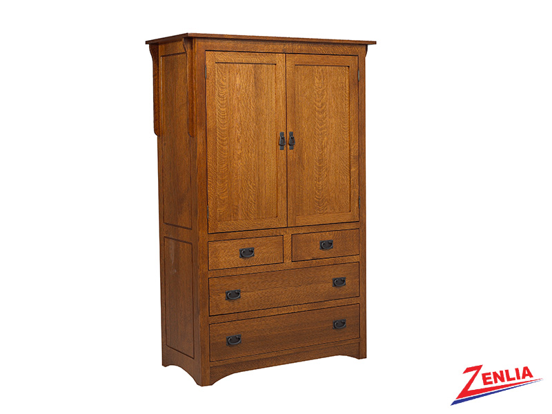 Miss Plain Top Armoire Large