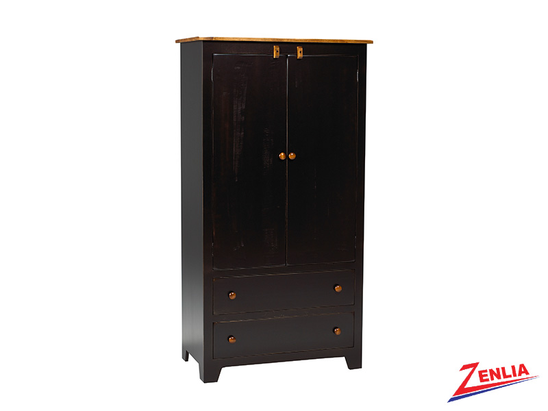Rust Plain Top Armoire