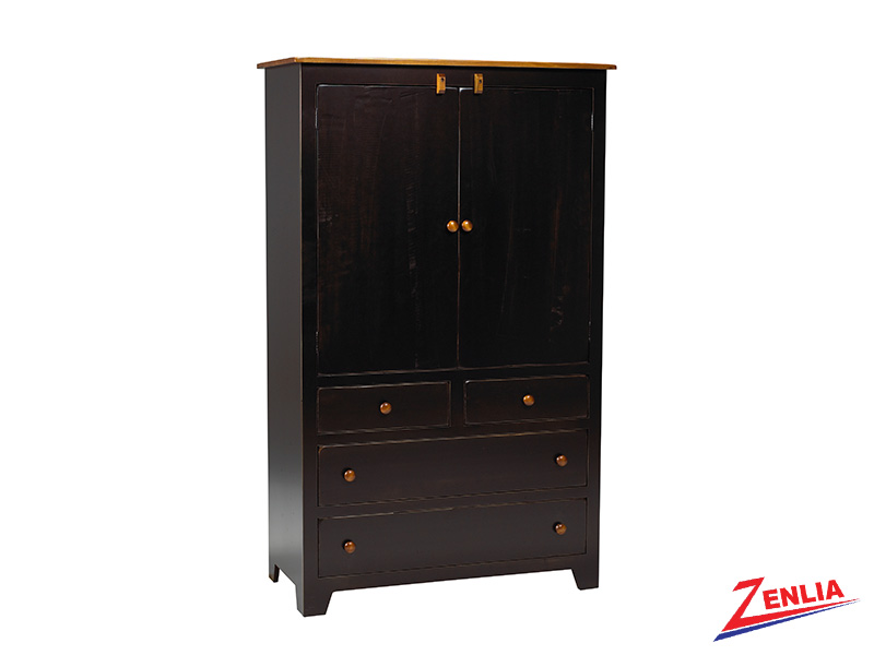 Rust Plain Top Armoire Large