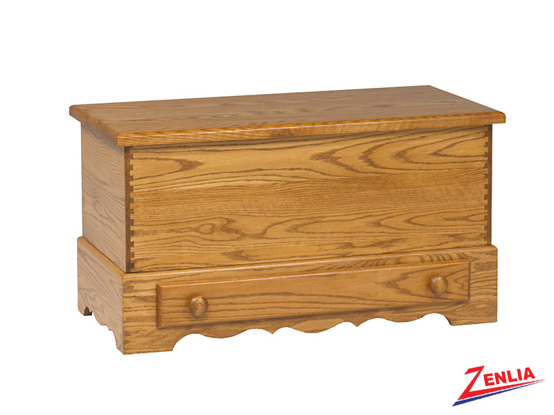 Country Blanket Box With Drawer