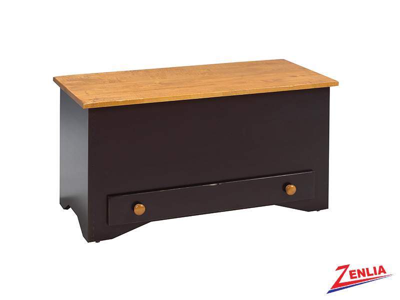 Rust Blanket Box With Drawer