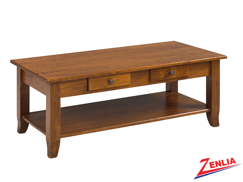 Bour 2 Drawer & Shelf Coffee Table