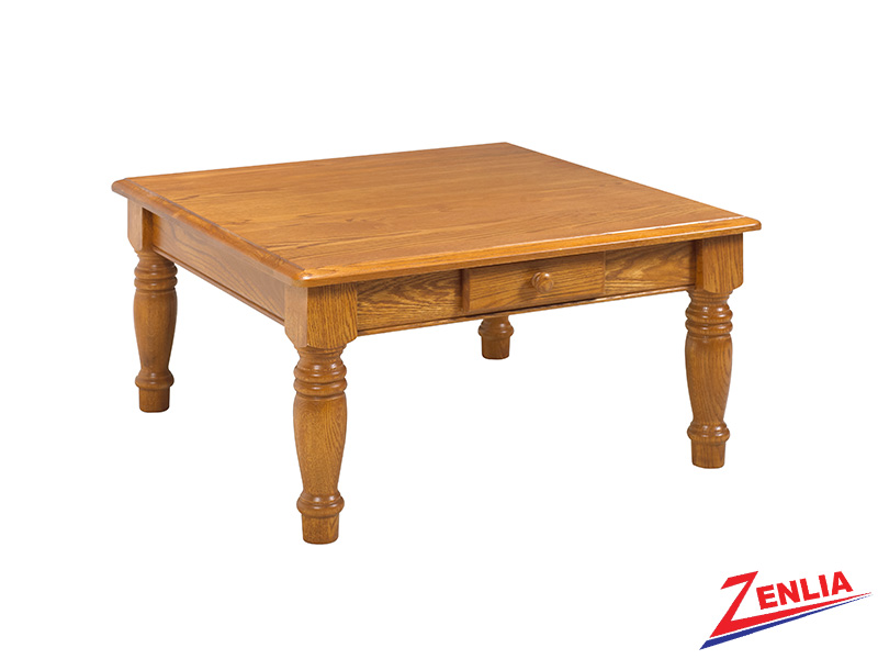 Country 2 Drawer Square Coffee Table