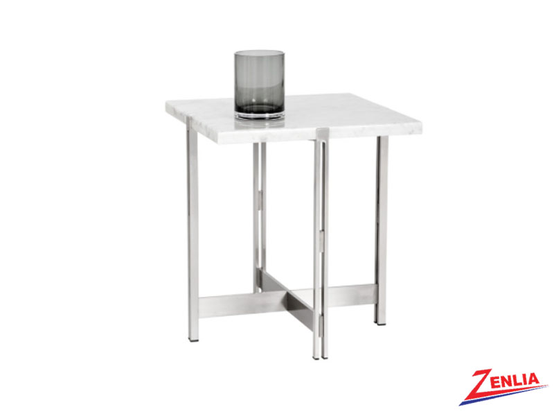 Enz White End Table