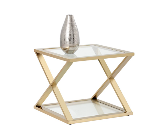 Goth Gold End Table
