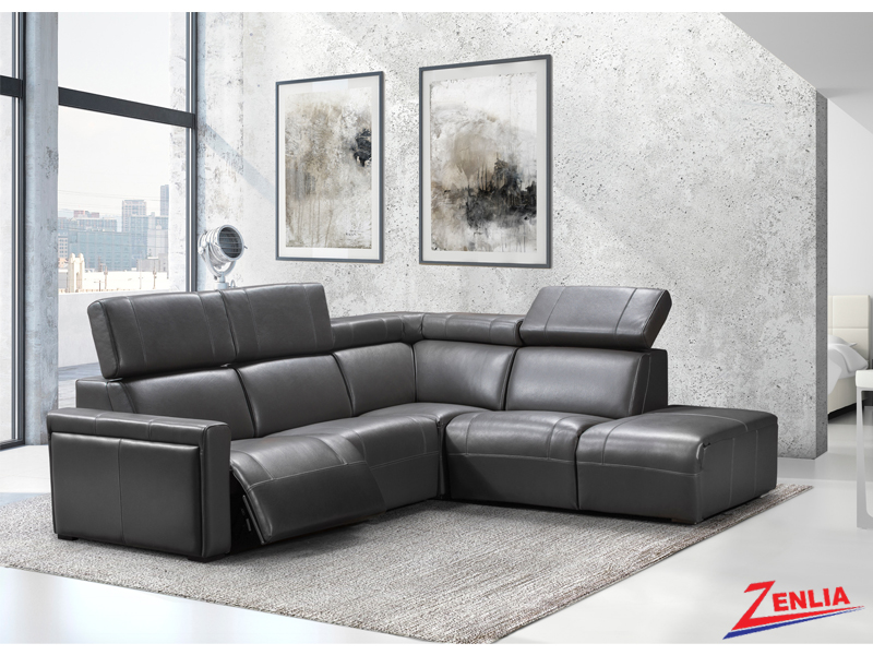 Orle Modern Sectional Sofa With Power Headrest