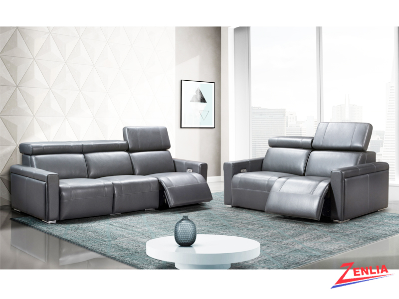 Orle Modern Sofa Set With Power Headrest Reclining Sofas