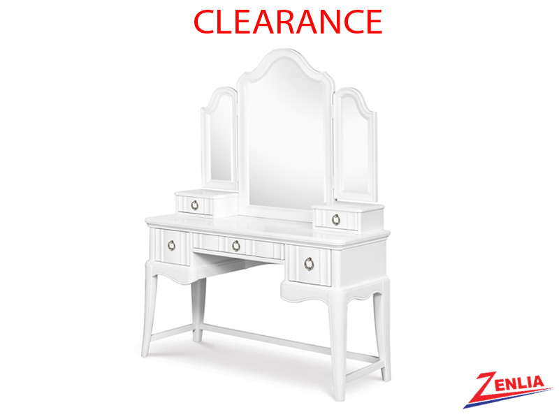 Gabrielle Vanity Tri-fold Vanity Set With Chair On Clearance