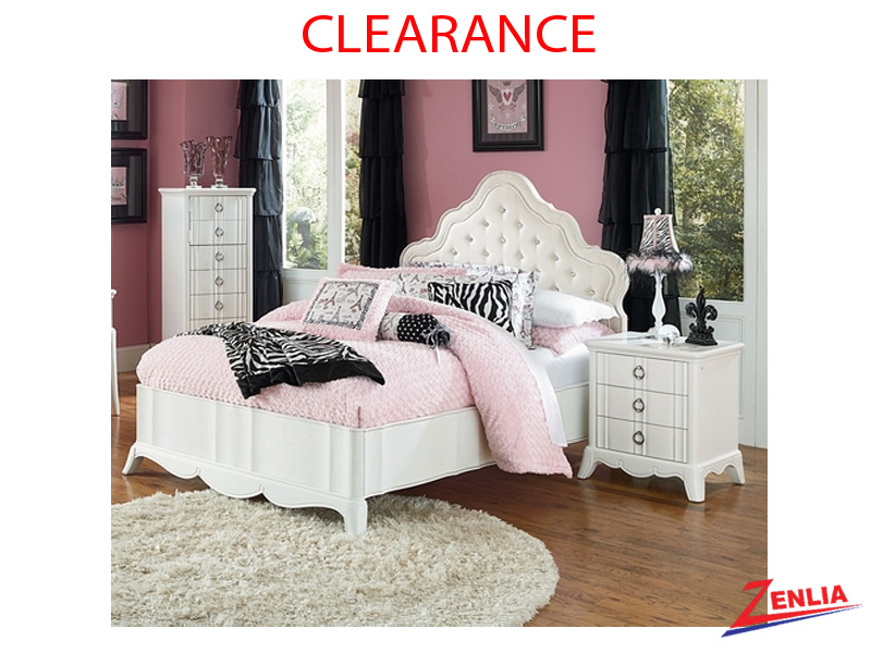 Gabrielle Full Size Bed & Night Stand  On Clearance