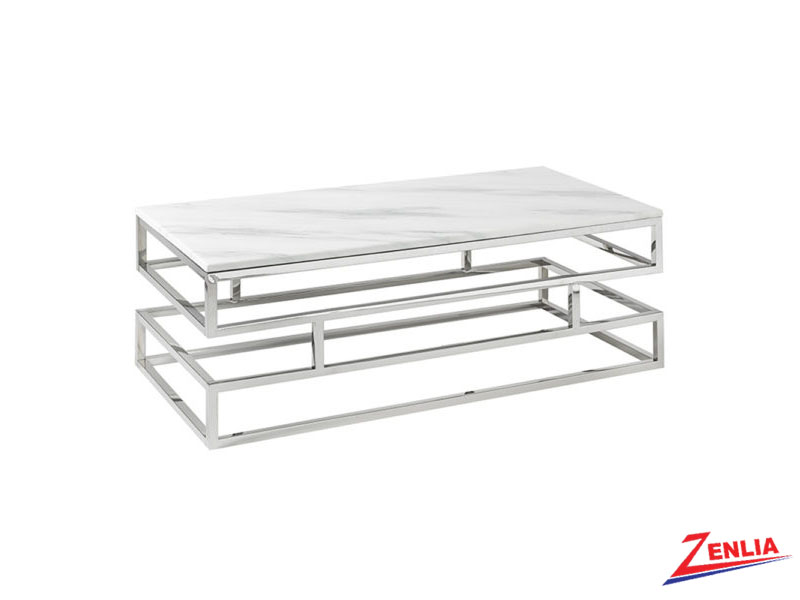 Keat  Marble Silver Table