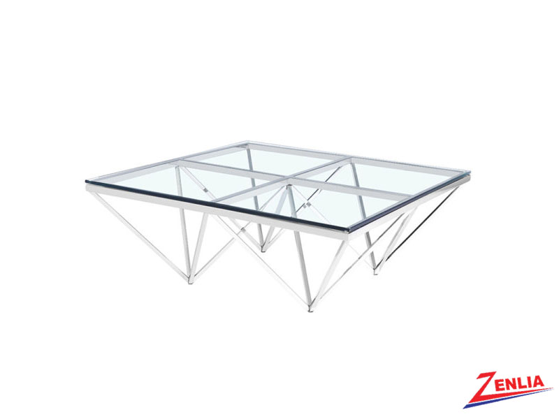 Luxo Silver Coffee Table