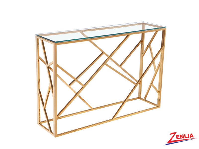 Caro Gold Console Table