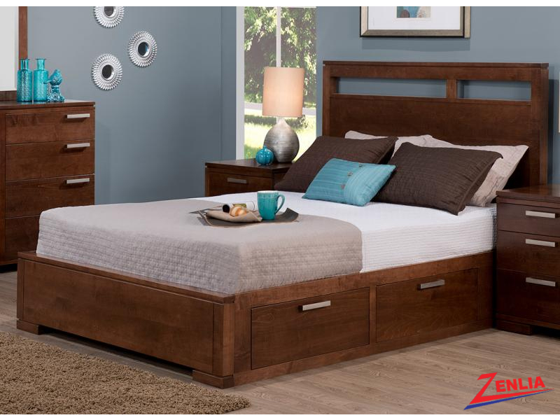 Cordo Storage Platform Bed With Drawers