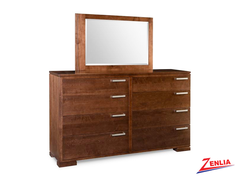 Cordo 8 Drawer Long Dresser & Mirror