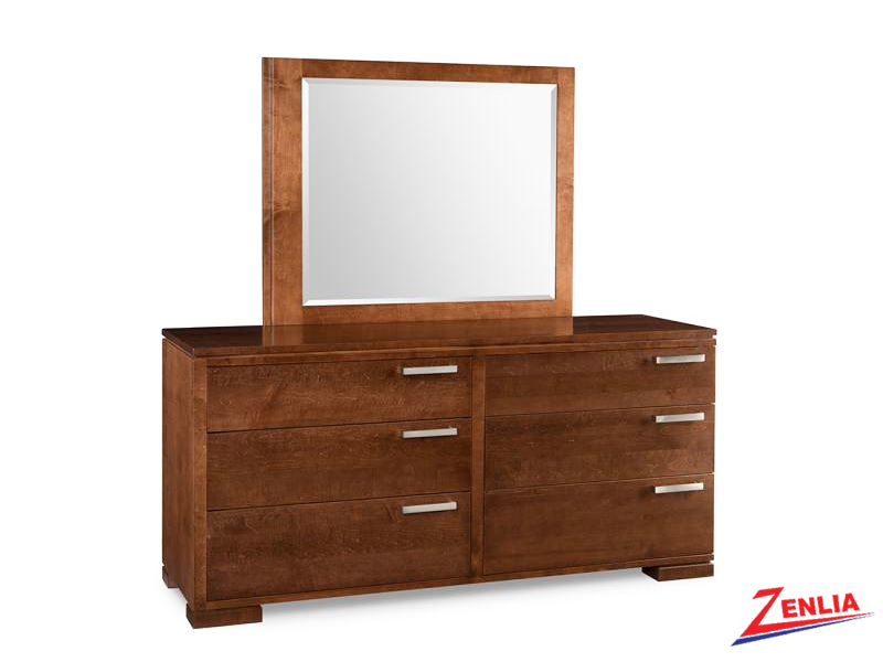 Cordo 6 Drawer Long Dresser & Mirror