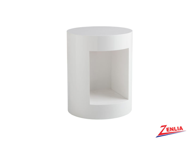 Beac White End Table