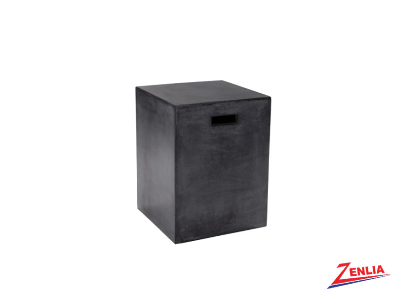 Cast Black End Table