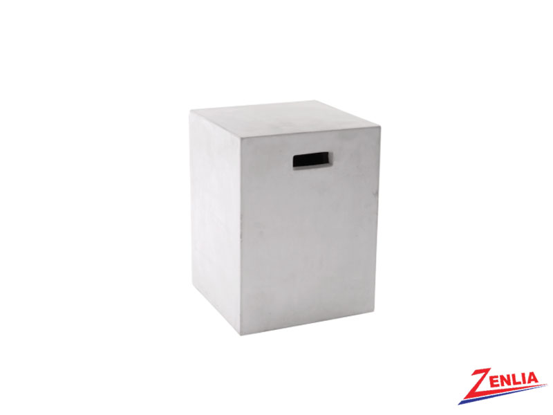 Cast White End Table