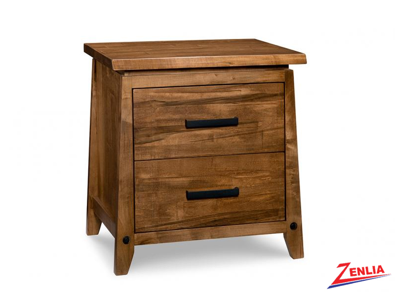 Pembe Two Drawer Night Stand