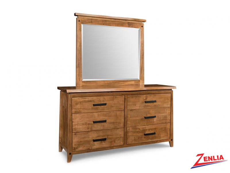 Pembe 6 Drawer Dresser & Mirror