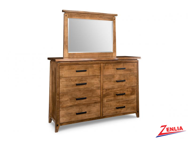 Pembe 8 Drawer High Dresser And Mirror